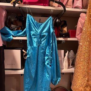 Blue off the shoulder princess jasmine dress